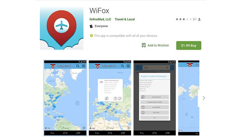 پسورد فرودگاه های WiFox