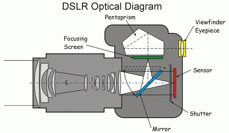 ساختار دوربین DSLR